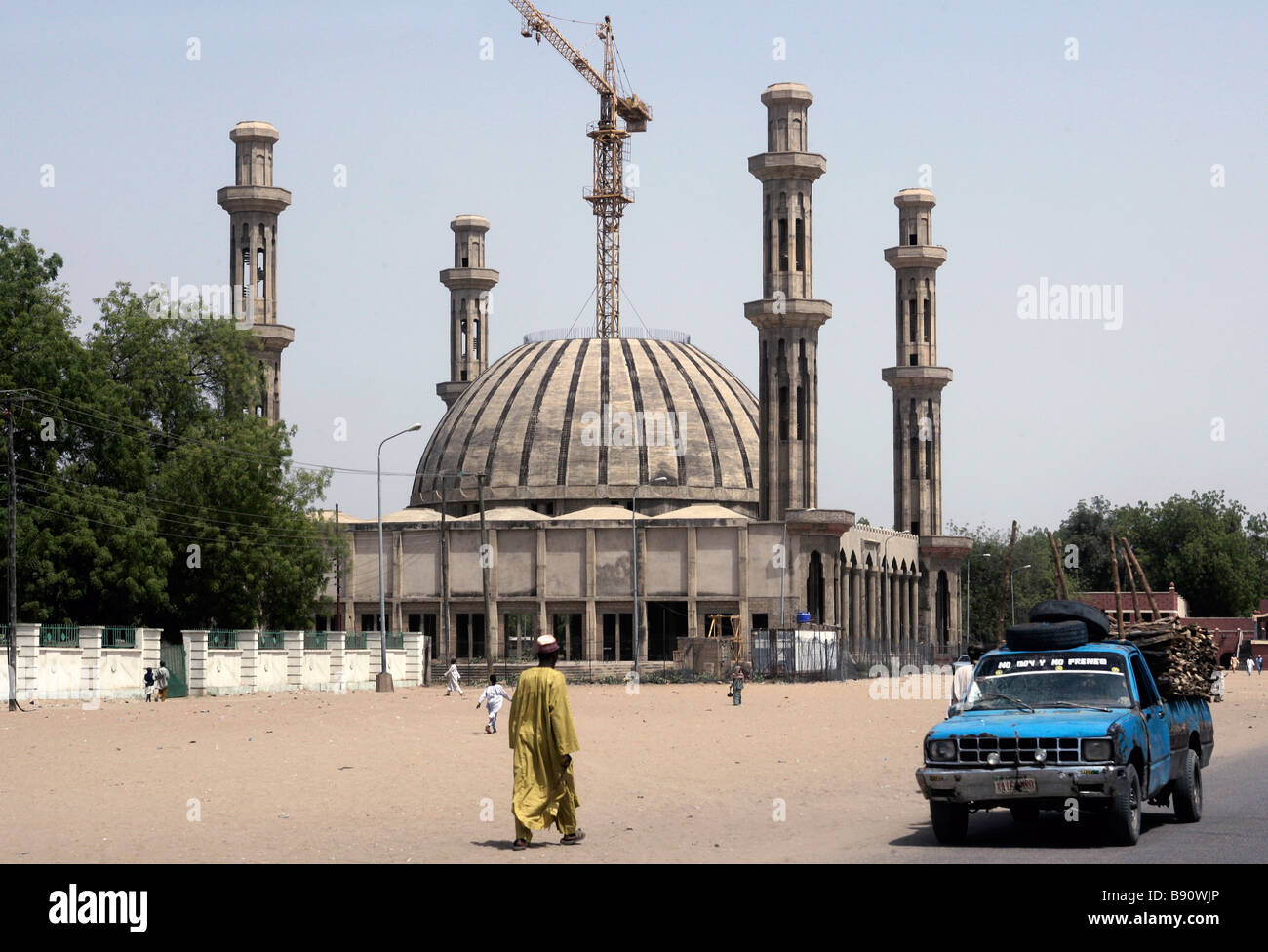Nigeria: New building of the central mosque of Maiduguri - Stock Image