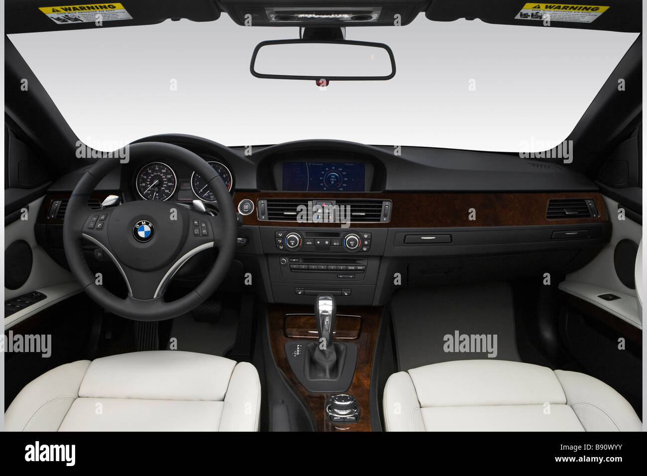 2009 Bmw 3 Series 335i In Blue Front Angle View Stock Photo