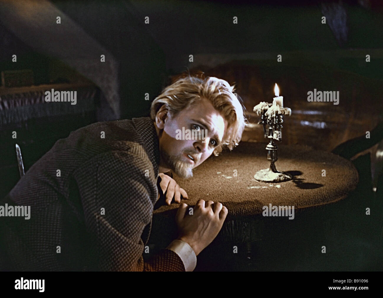 Yury Yakovlev as Prince Myshkin in Ivan Pyryev s movie The Idiot 1958 adapted to the screen from Fyodor Dostoyevsky - Stock Image