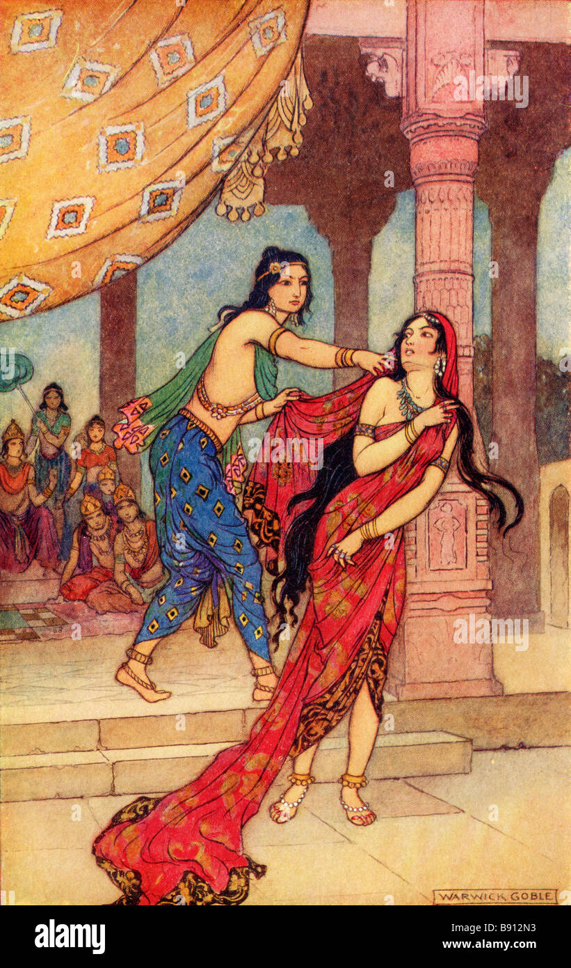 The Ordeal of Queen Draupadi - Stock Image