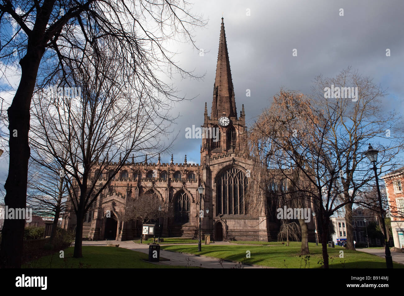 The Minster Church of 'All Saints', Rotherham 'South Yorkshire', England, 'Great Britain', - Stock Image