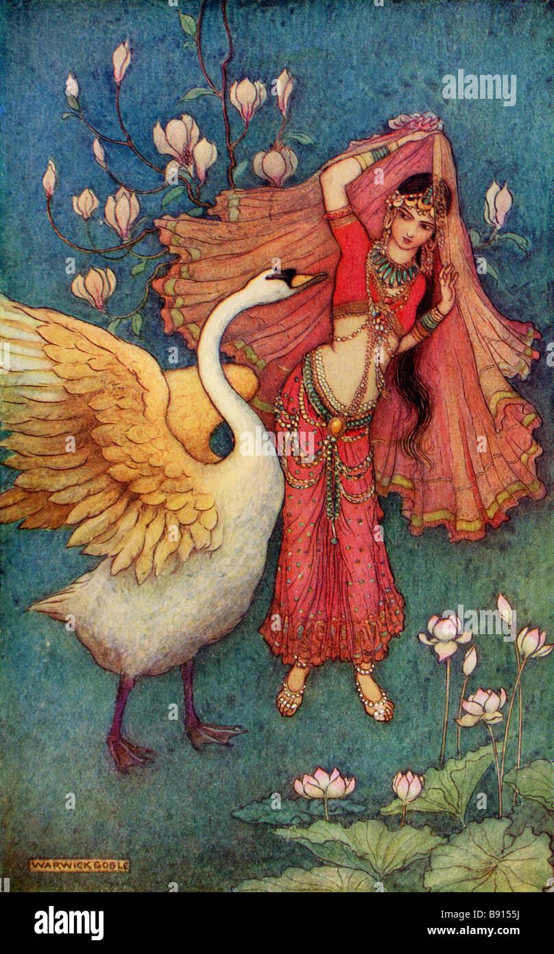 Damayanti and the Swan - Stock Image