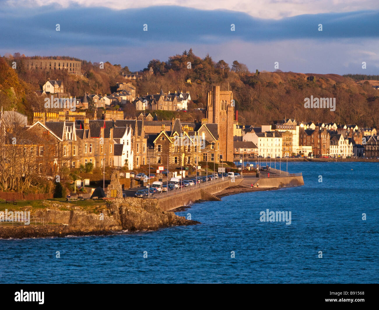 Oban seen from the car ferry - Stock Image