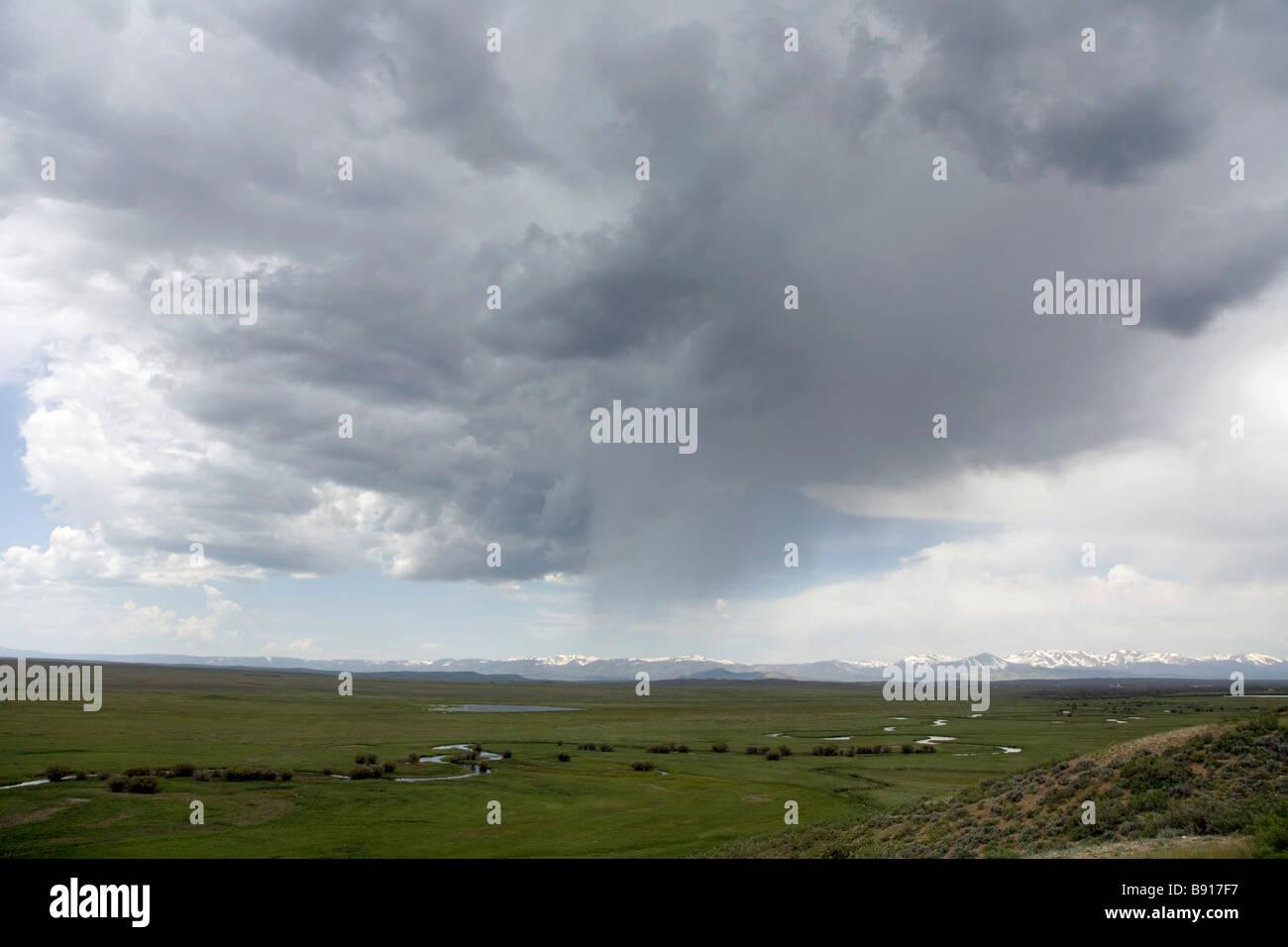 The Arapaho National Wildlife Refuge near Walden Colorado - Stock Image