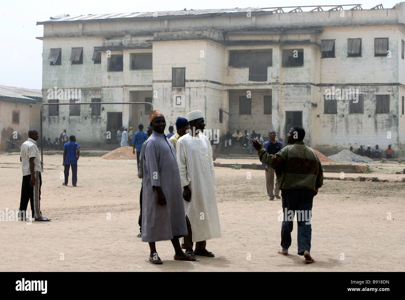 Nigeria: court way in the prison of Jos - Stock Image