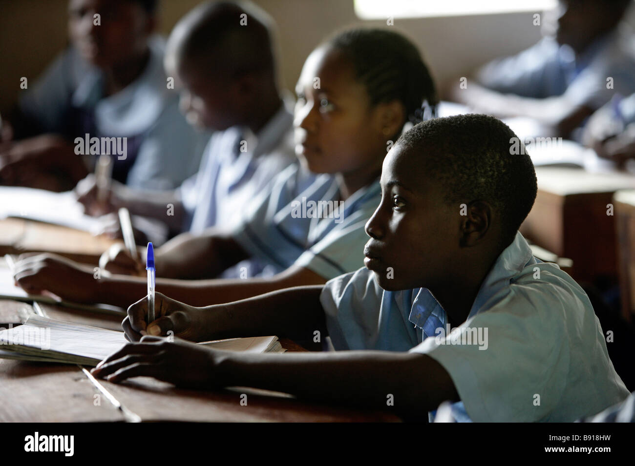 Nigeria: classroom of a secondary school in Maiduguri - Stock Image
