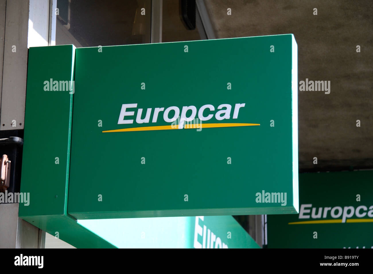 The Europcar Hire Car Logo Outside Victoria Coach Station London
