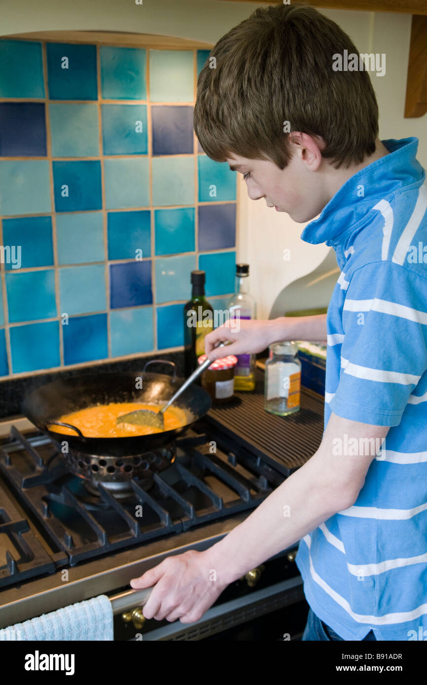 Cooking With A Wok Stock Photos & Cooking With A Wok Stock Images ...