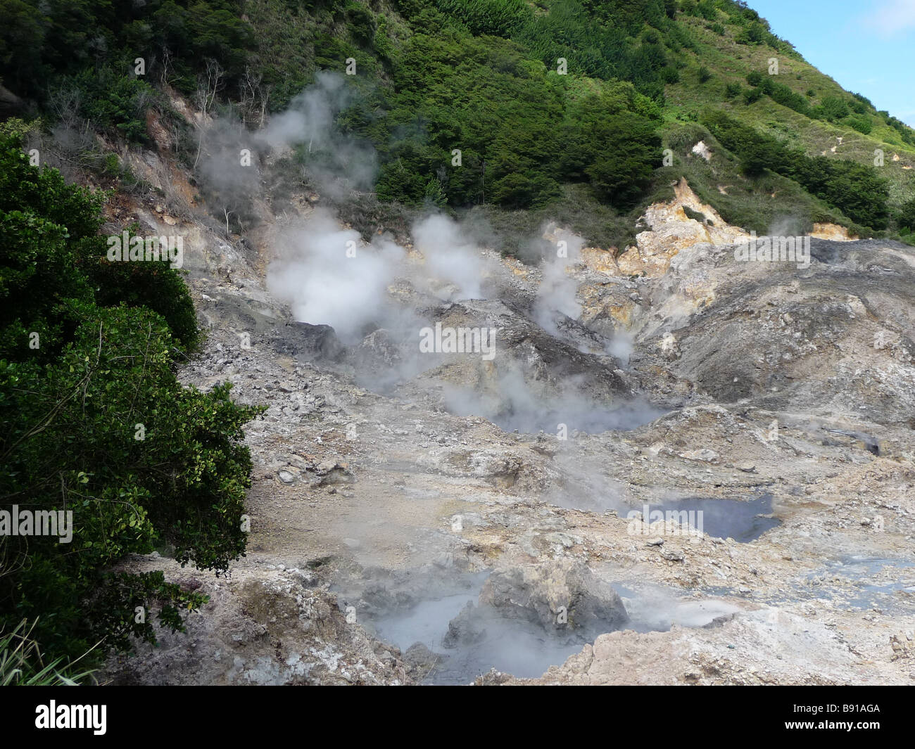 Sulphur Springs St Lucia - Stock Image