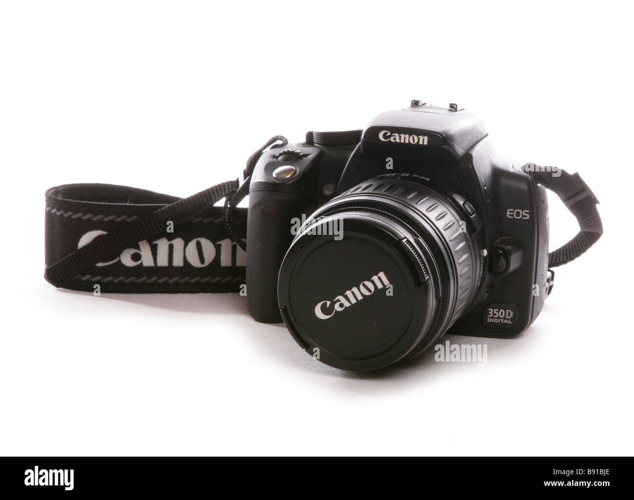 Canon Slr digital camera cutout - Stock Image