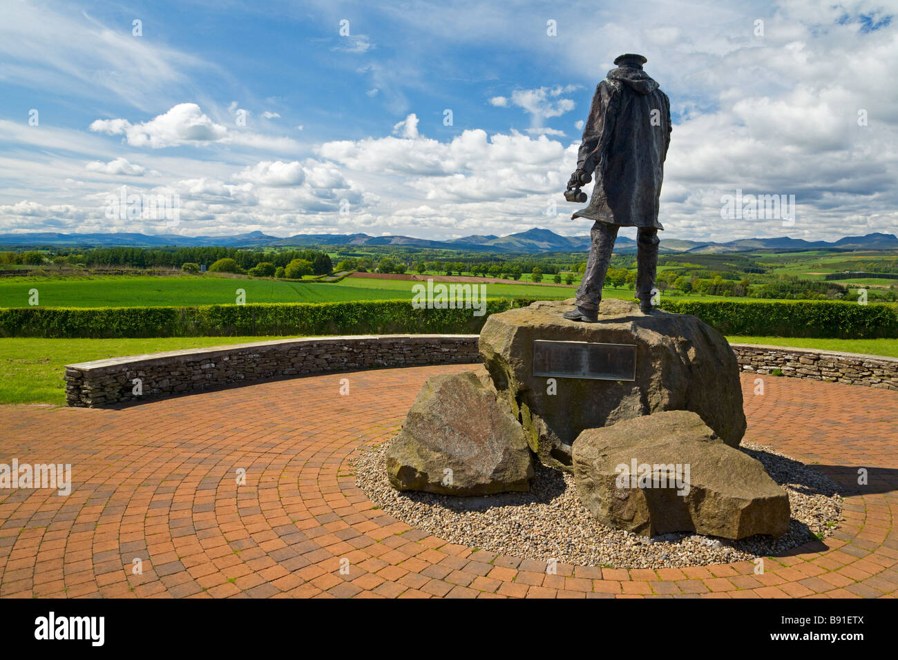 Memorial to Sir David Stirling founder of the SAS near Doune - Stock Image