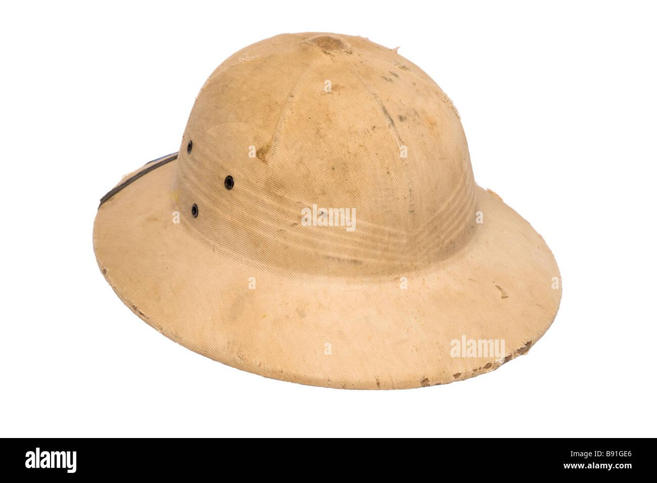 High Quality Sun Safari Pith Helmet White
