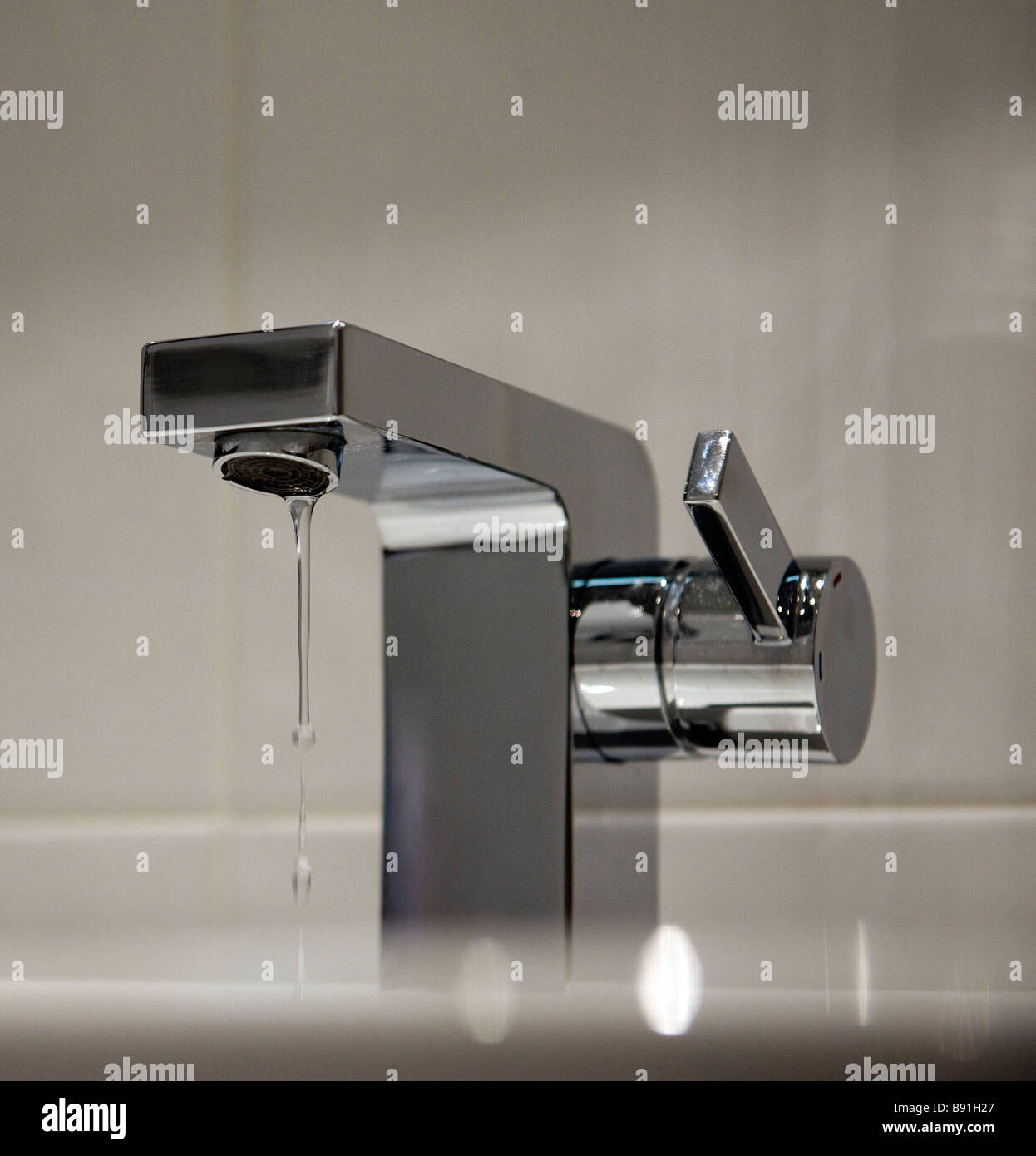 Domestic water tap or Faucet dripping - Stock Image