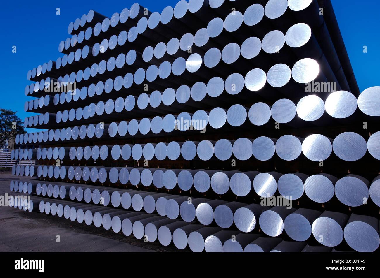 Aluminum rods Stock Photo