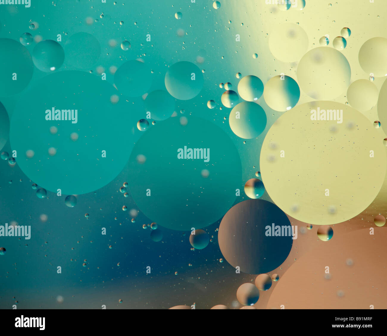 Abstract floating bubbles - Stock Image