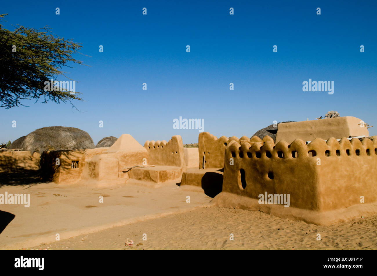 Beautiful desert architecture as seen in a small village in