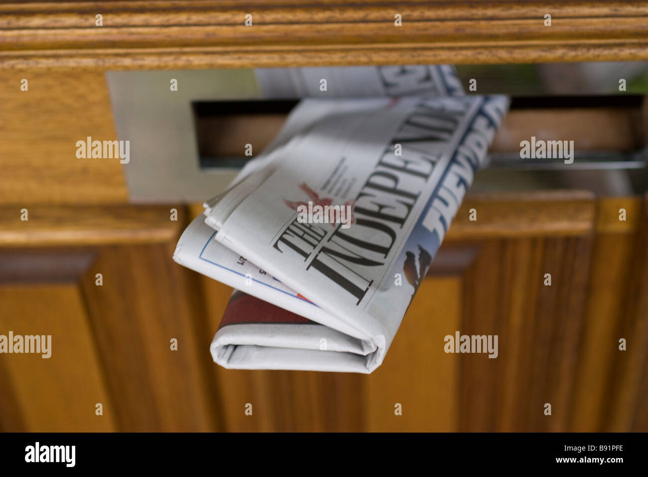 Uk print newspaper Press The Independent daily - Stock Image