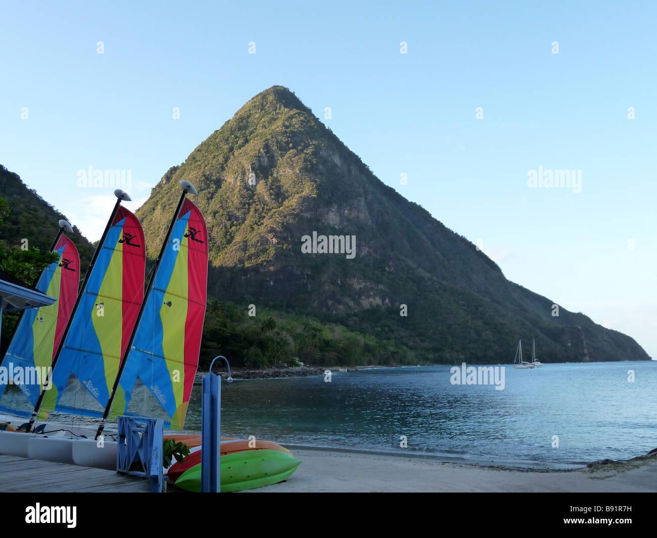 Gros Piton St Lucia - Stock Image