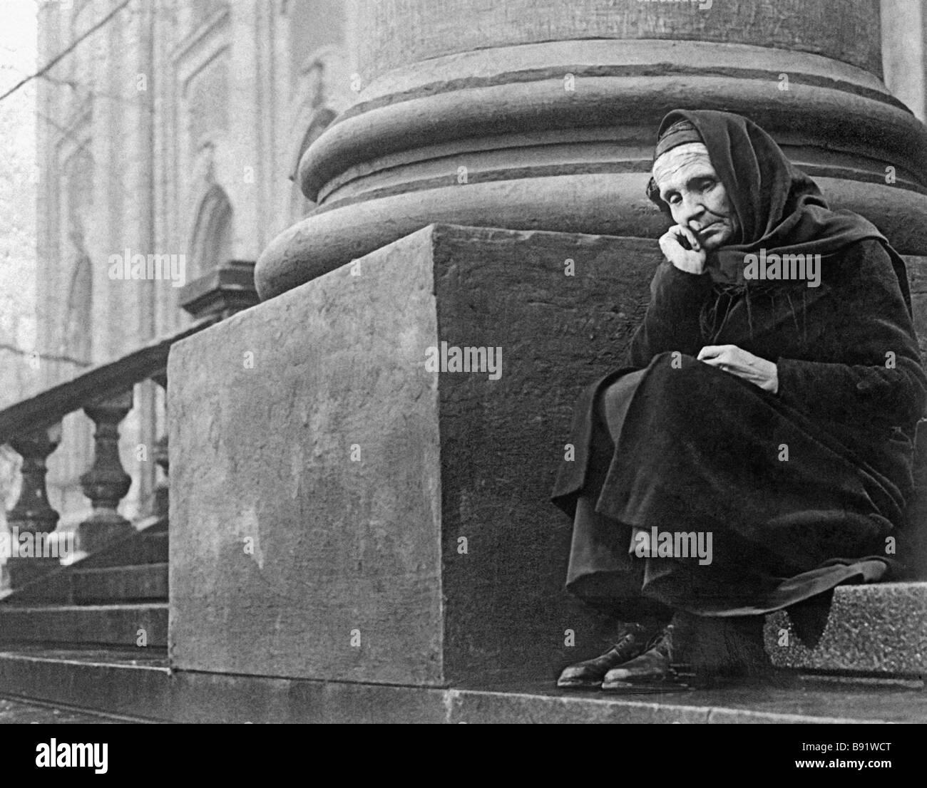 A still from Leo Arnshtam s film A Lesson In History 1956 with Bulgarian actress Tsvetana Arnaukhova as Dmitrova - Stock Image