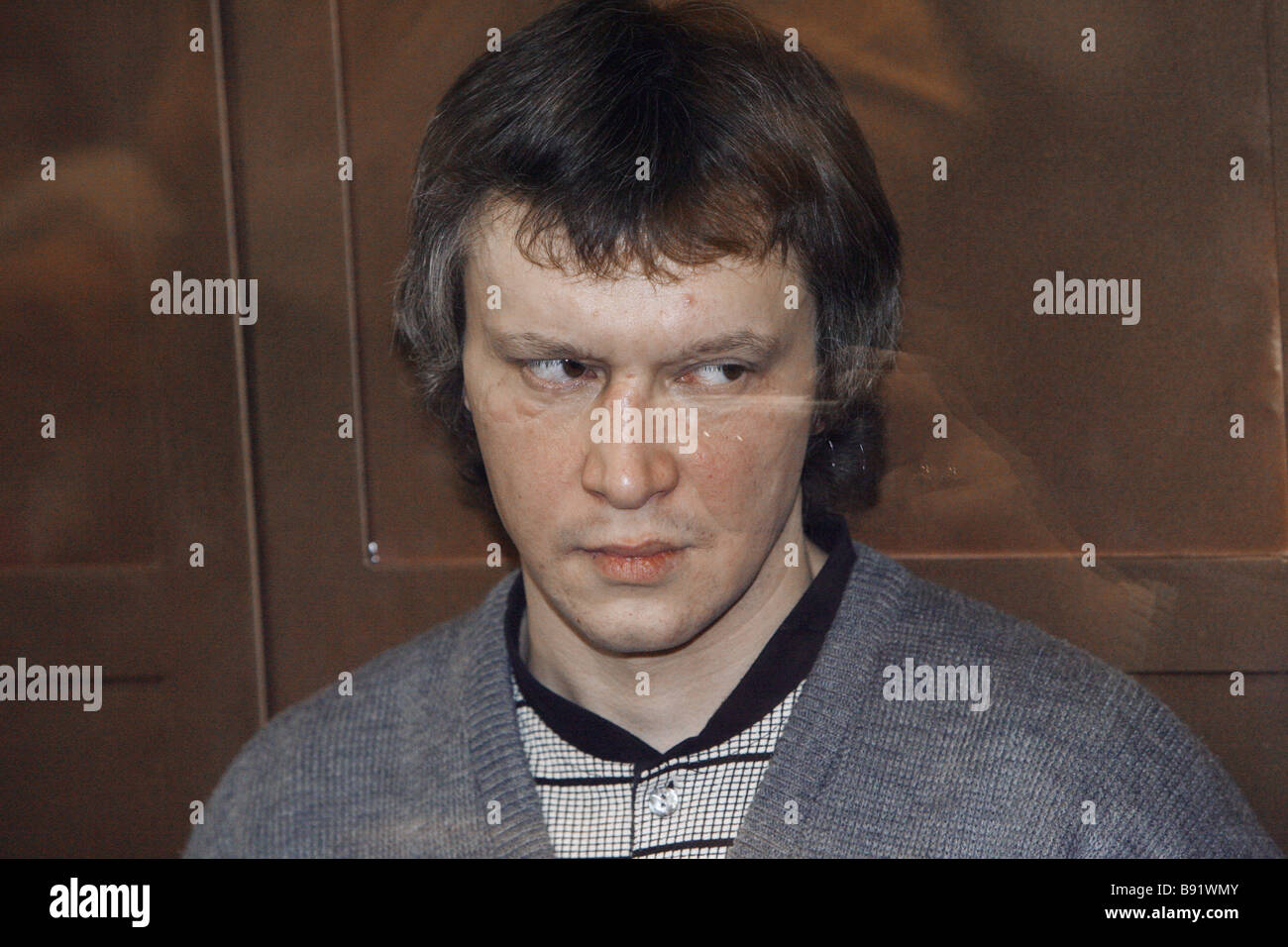Notorious Bitsa Maniac Alexander Pichushkin found guilty by a jury of 48 murders and three attempted murders hears - Stock Image