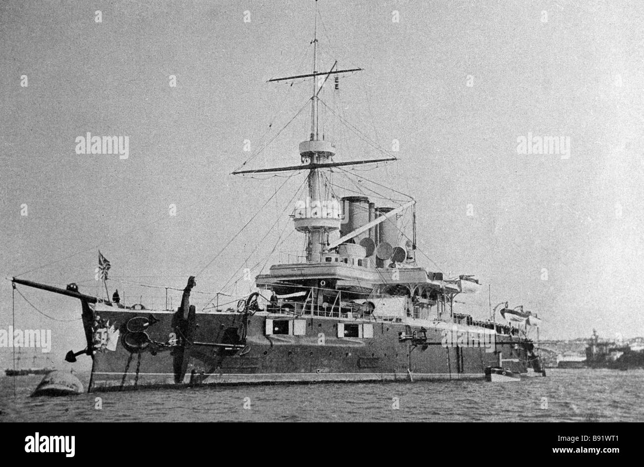 Battleship St George from the collection of the History Museum - Stock Image