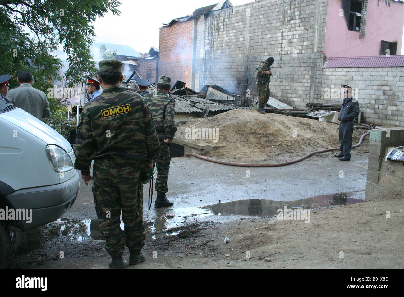 Two millitants were killed in an operation mounted in Makhachkala One of them Shamil Gasanov is understood to have - Stock Image