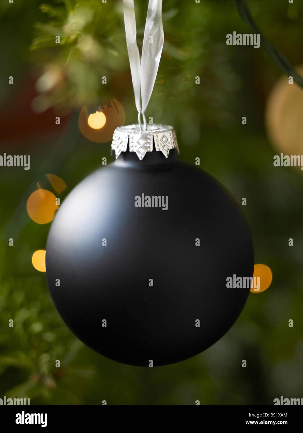 A black Christmas decoration Sweden. - Stock Image