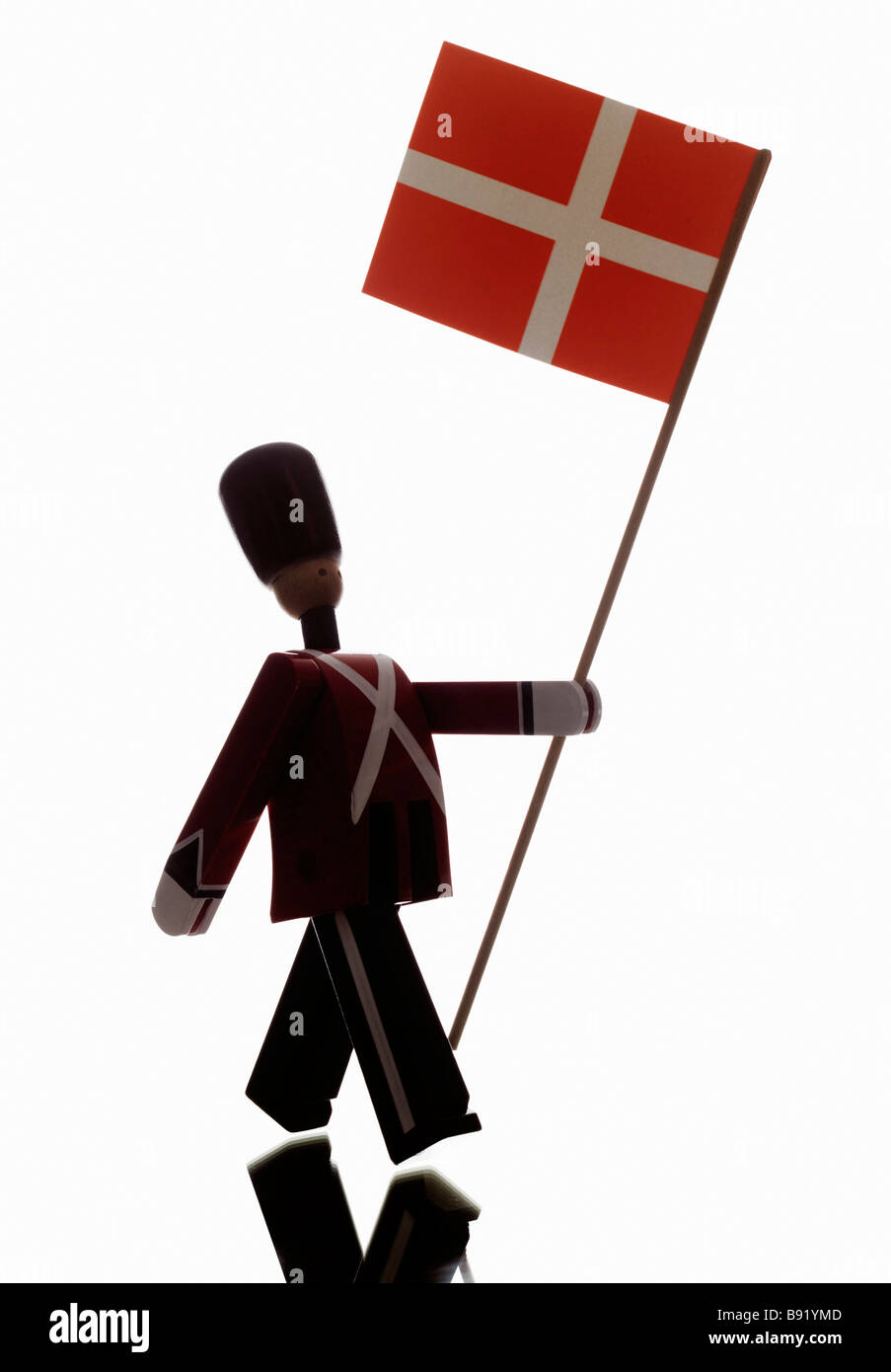 The Danish lifeguards in the shape of dolls. - Stock Image