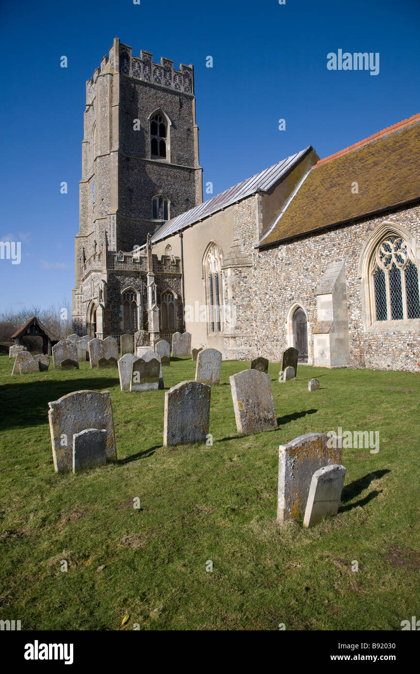 St Mary s church Kersey Suffolk England - Stock Image