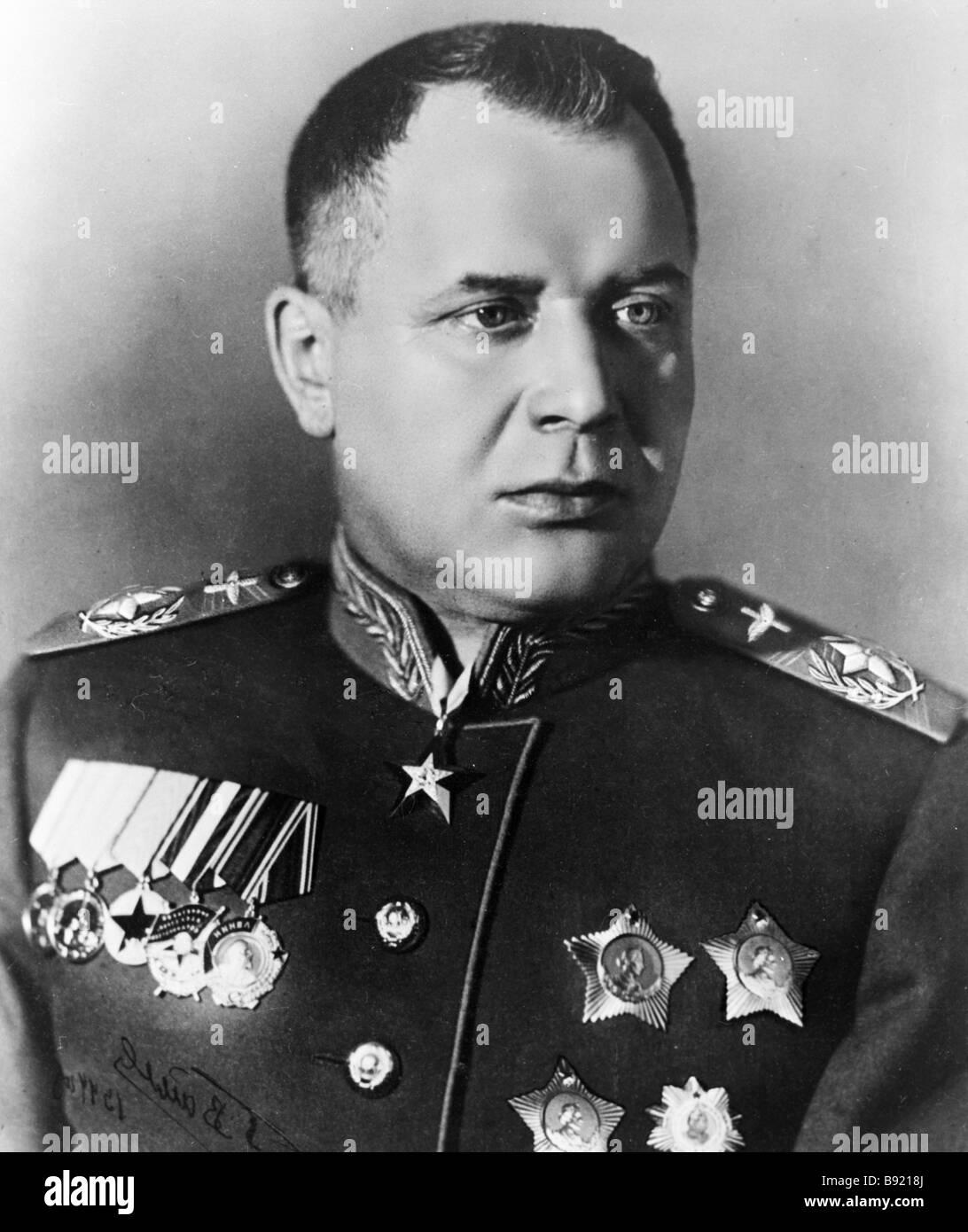 Marshal of Aviation Alexander Novikov - Stock Image