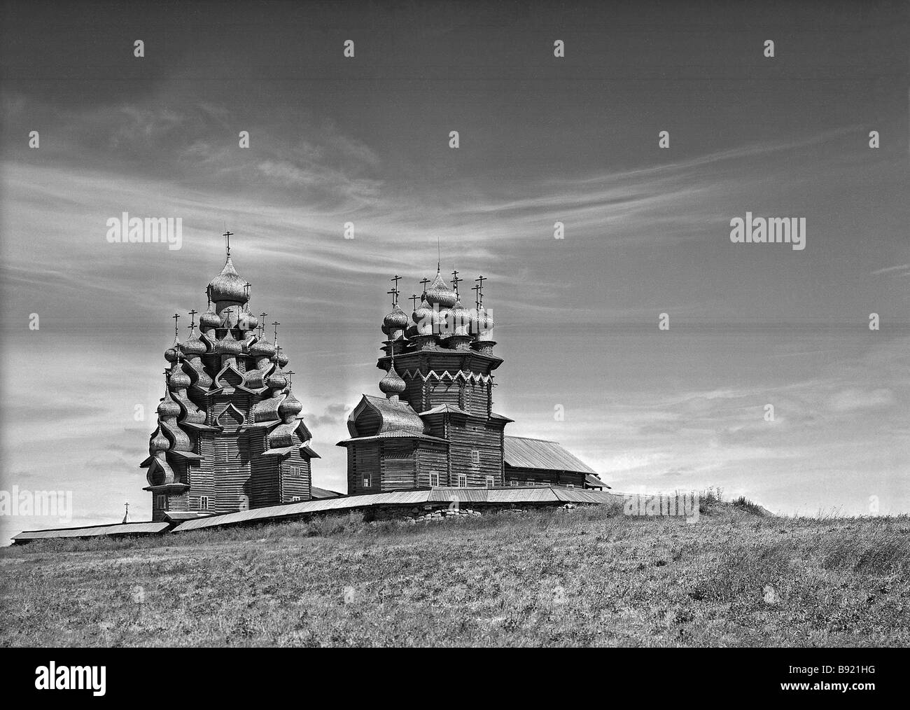 The Kizhi open air museum of wooden architecture - Stock Image