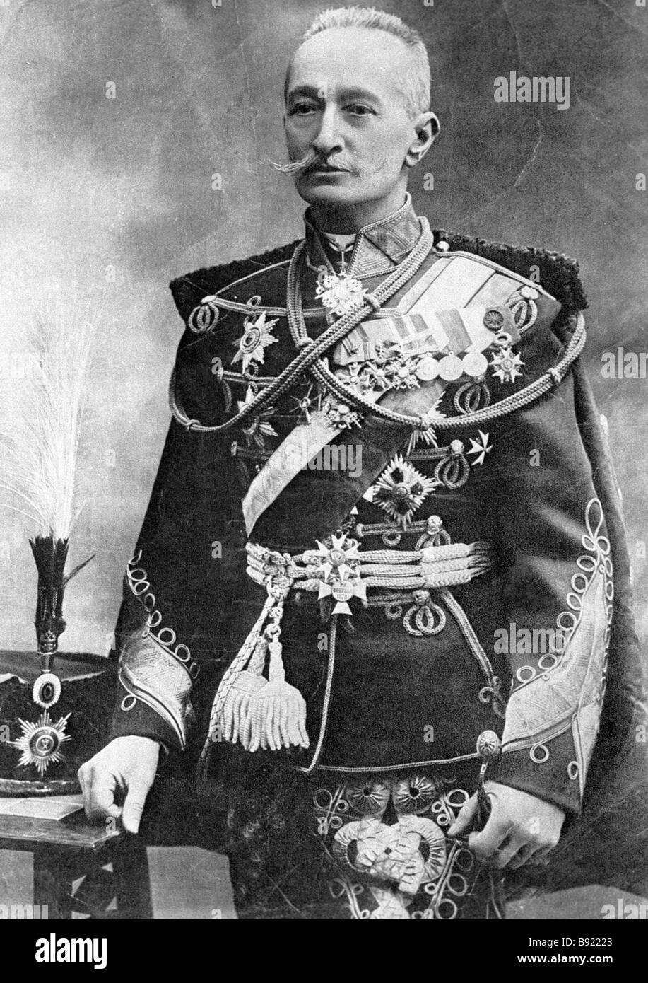 General Alexei Brusilov of the Russian Cavalry 1853 1926 - Stock Image