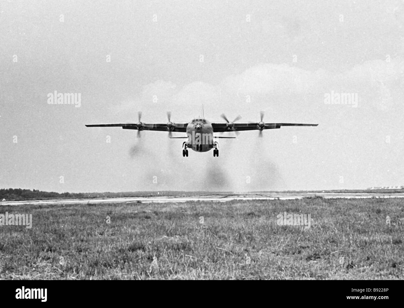 The AN 12 Cub a military transport turboprop aircraft - Stock Image