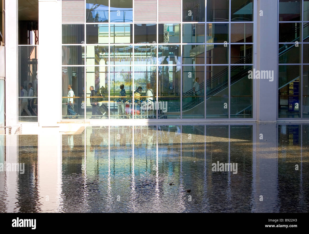 Architectural detail in the Marco Polo Airport in Venice Italy Stock Photo