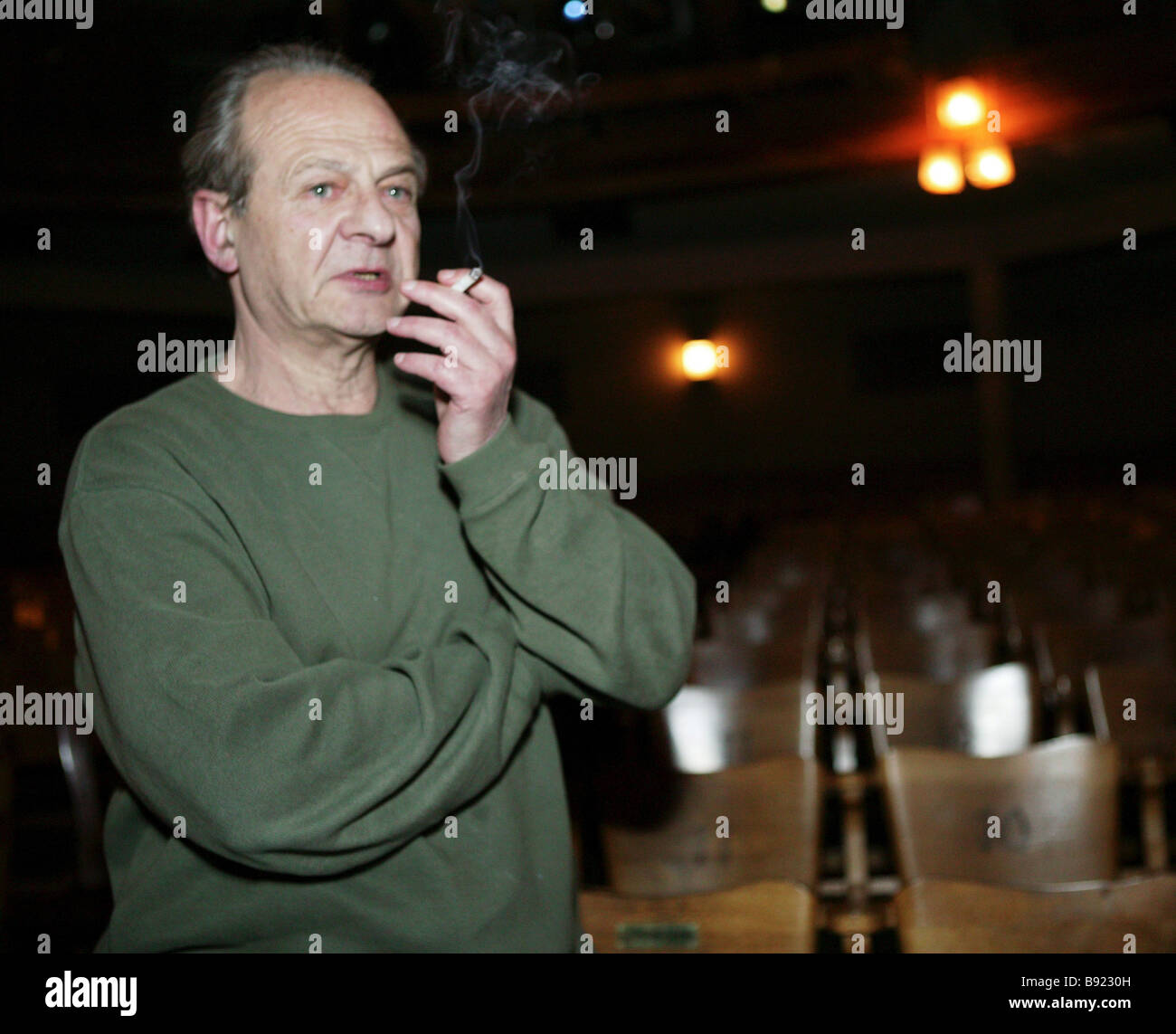 Adolf Shapiro the stage director of The Cherry Orchard in the Moscow Chekhov Art Theatre Stock Photo