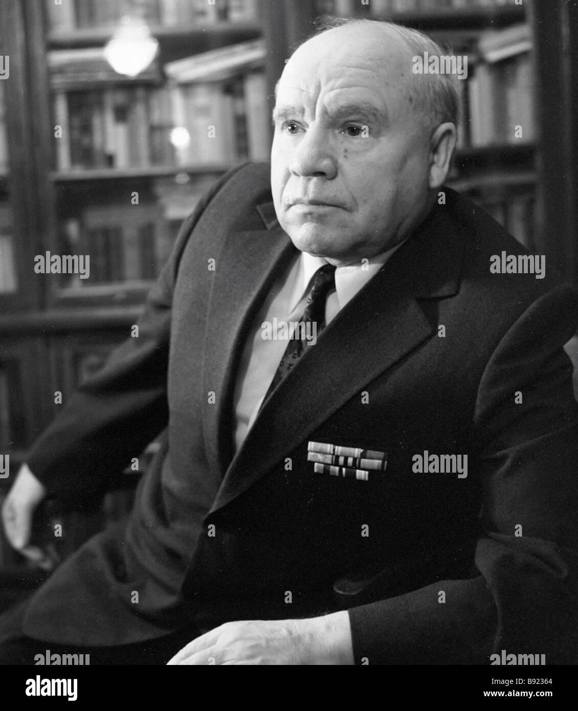 Vasili Pronin Soviet statesman - Stock Image