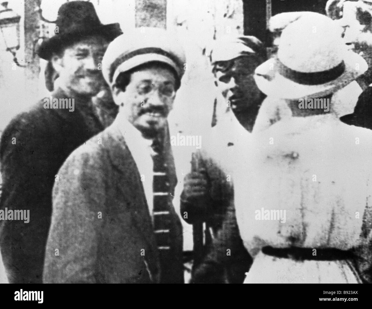Soviet political leader Yakov Sverdlov second from left during the 1st Congress of Soviets of Belarus - Stock Image