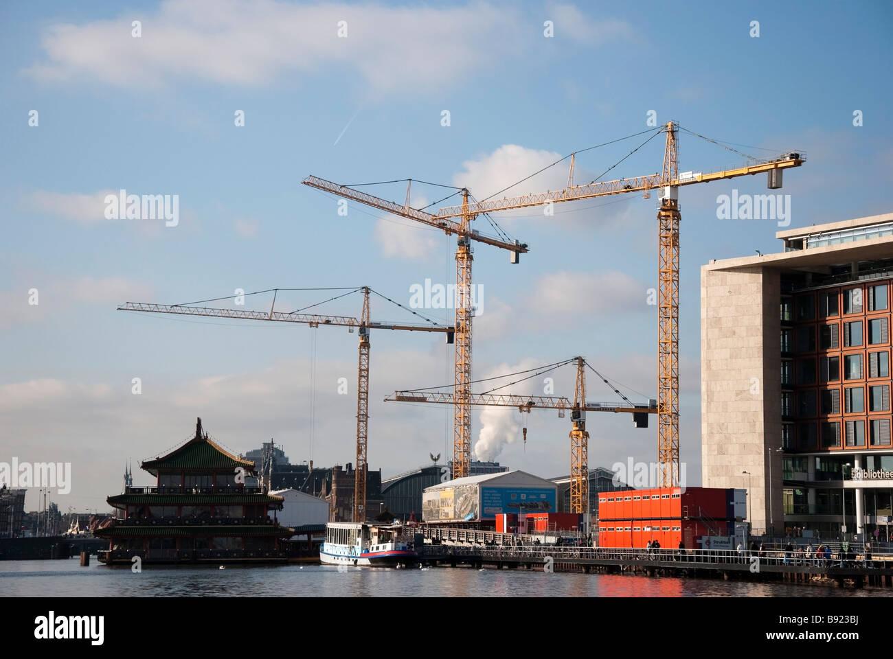 North/South Metroline Construction Amsterdam - Stock Image