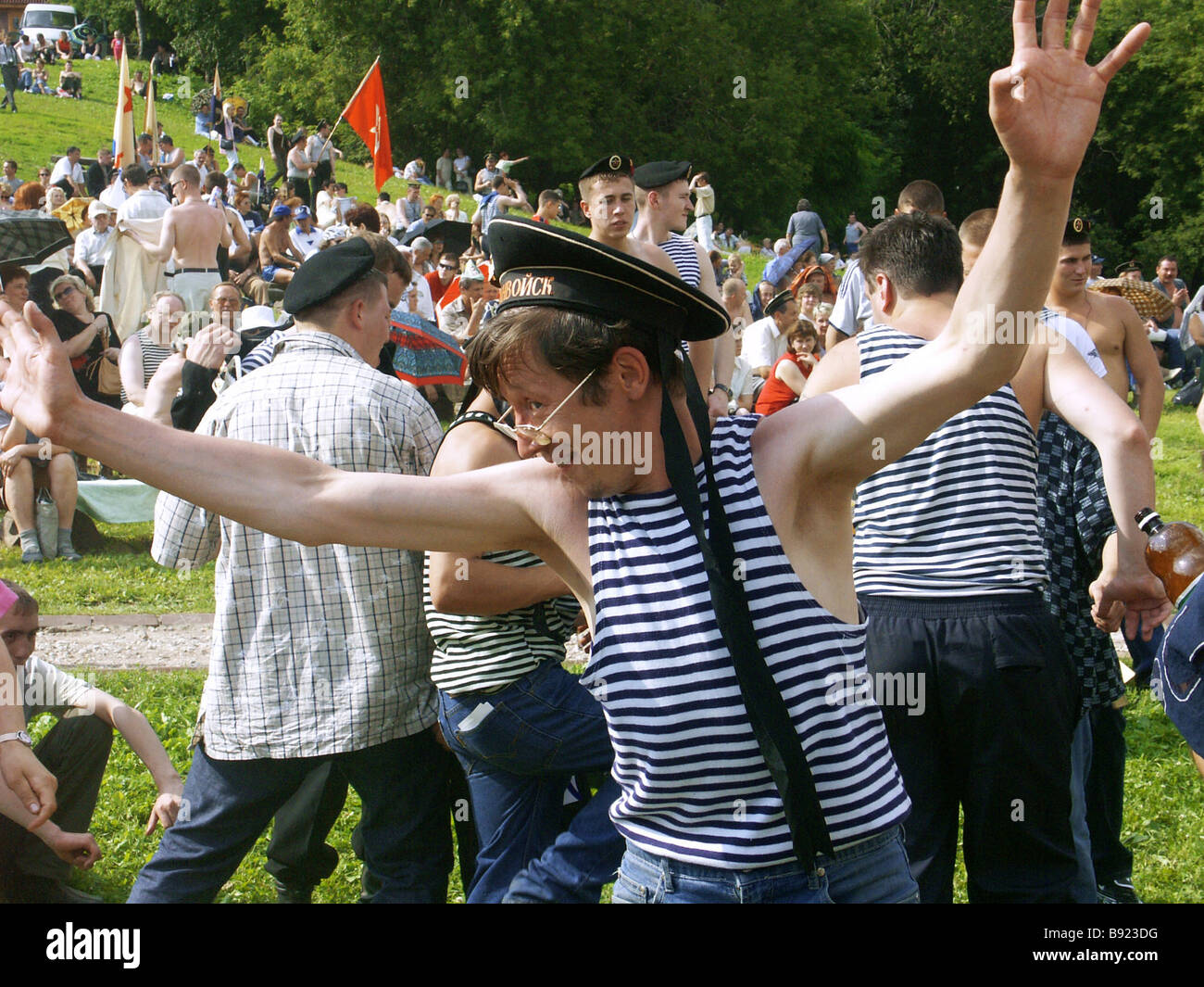 Moscow celebrates Navy Day - Stock Image
