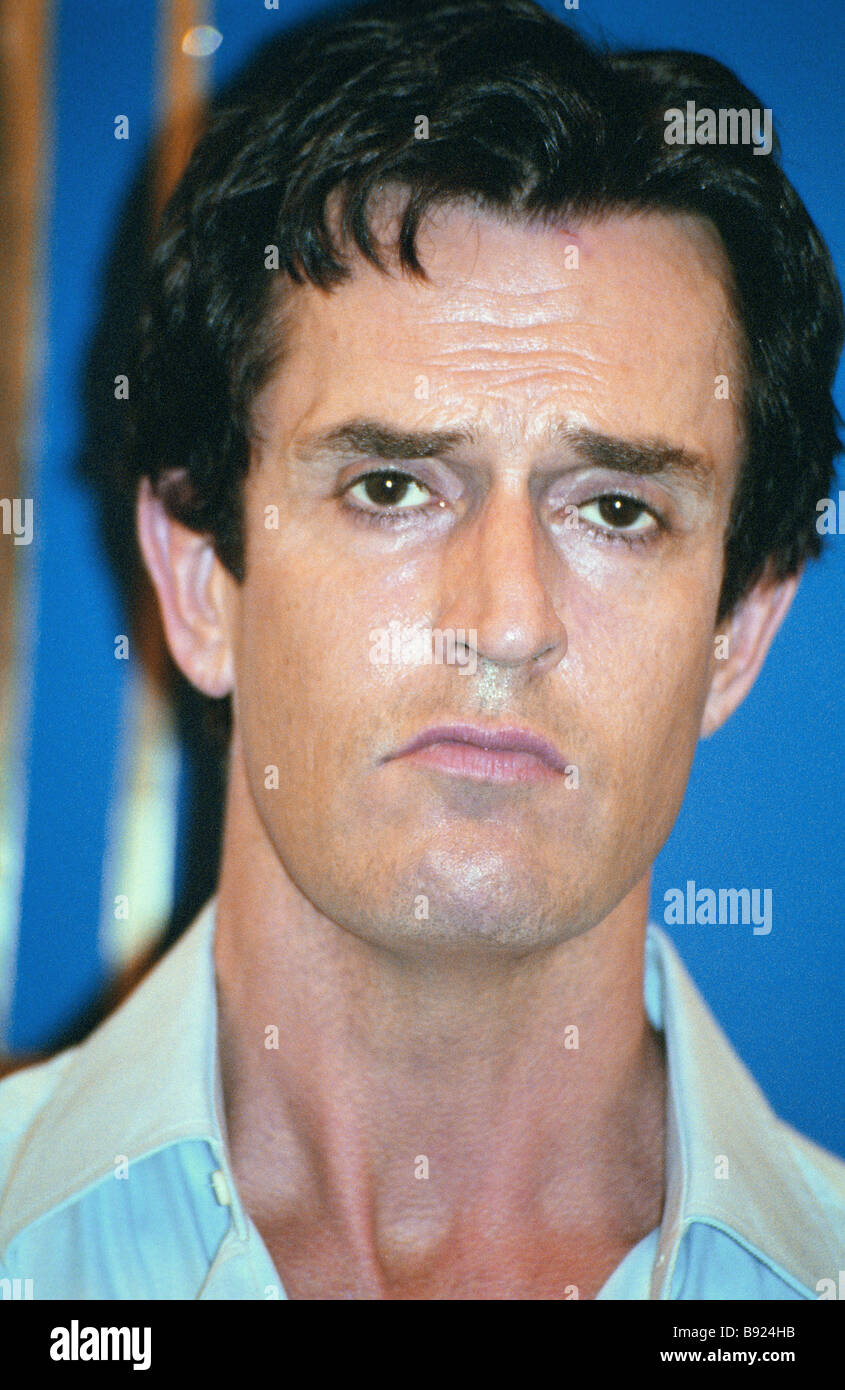 British actor Rupert Everett at a news conference held during the 26th Moscow International film festival - Stock Image