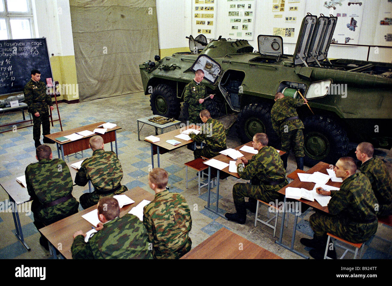 Classes at the Taman Motorized Rifle Division - Stock Image