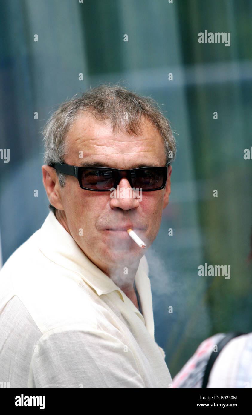 Actor Sergei Garmash Merited Artiste of Russia - Stock Image