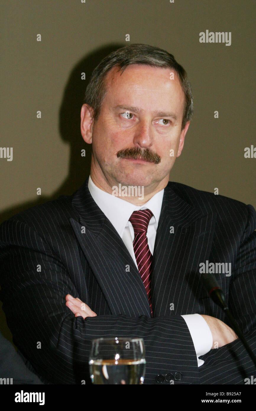 Estonian Siim Kallas EC Vice President - Stock Image