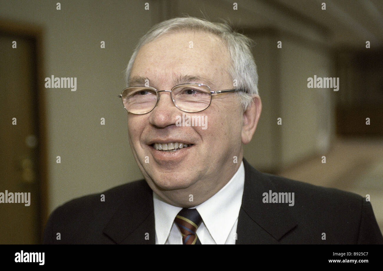 Vladimir Lukin Russia s Human Rights Commissioner - Stock Image