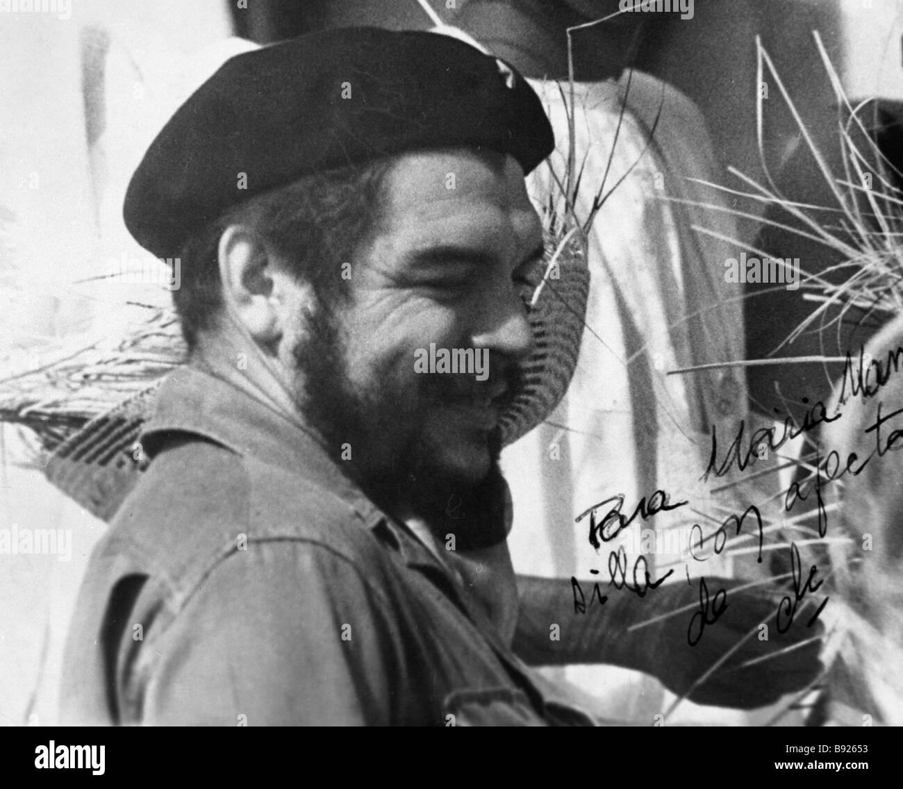 The Latin American revolutionary participant in the Cuban revolution Ernesto Che Gevara - Stock Image