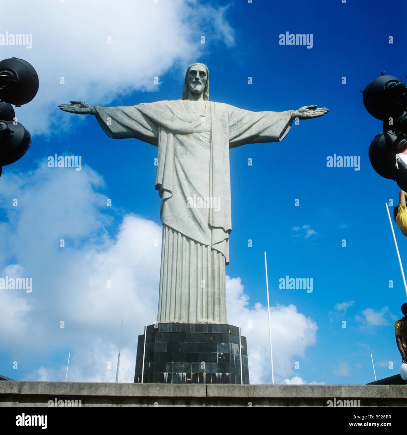 Rio de Janeiro, Brazil. The statue of Jesus Christ (Portuguese: O Cristo Redentor) on Corcovado Mt. Stock Photo