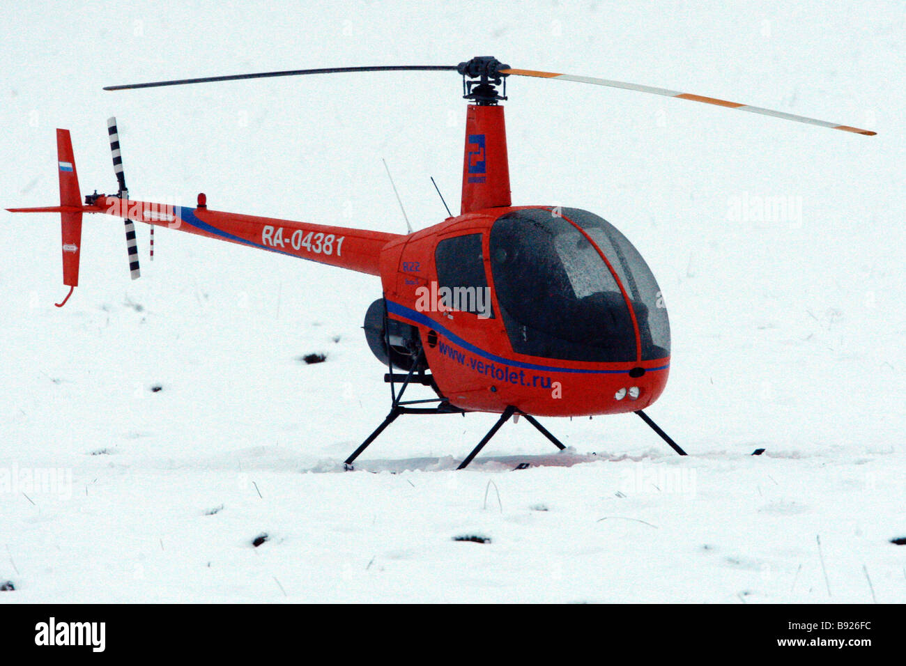 Light Robinson R22 two seater - Stock Image