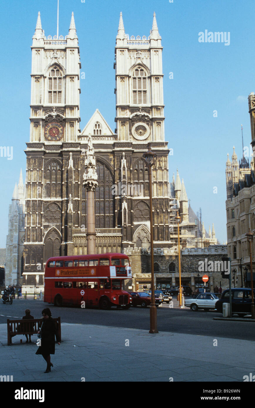 London, Westminster Abbey It is the traditional place of coronation and burial site for English Monarchs Stock Photo