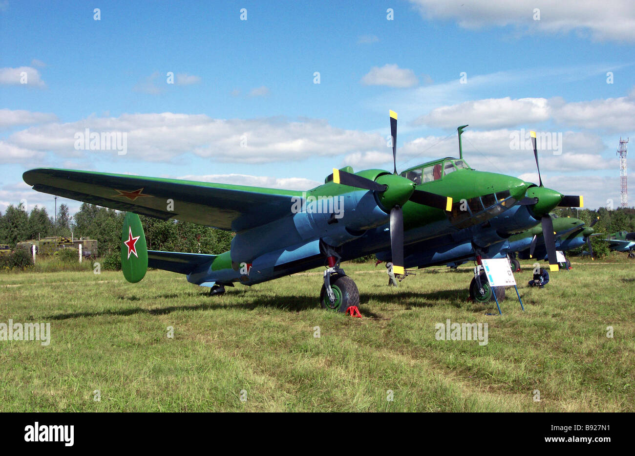 Front line bomber Tu 2 on Chkalovski airfield where WWII rarity aircraft officially met Tu 2 was recognized as the - Stock Image