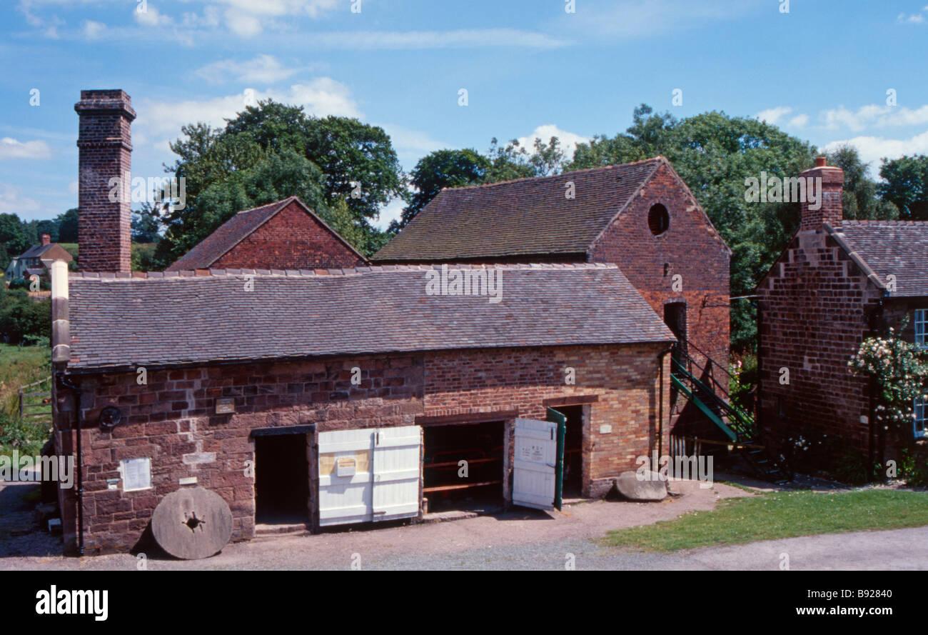 Cheddleton Flint Mill, Cheddleton, Staffordshire, England, UK - Stock Image